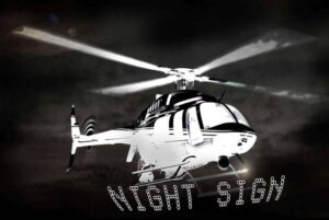 Helicopter Sky Nightsigns