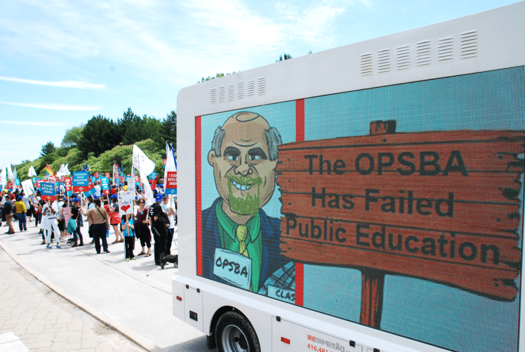 Digital Ad Truck & Walking Billboards: Durham ETFO