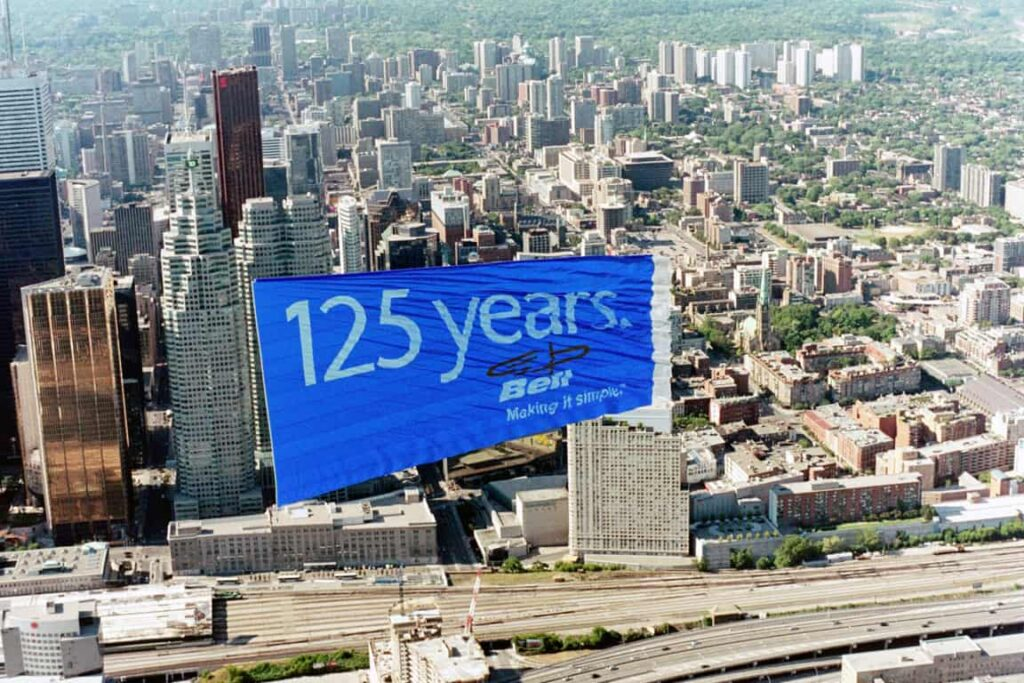 Aerial Advertising: Bell Canada – Cosette