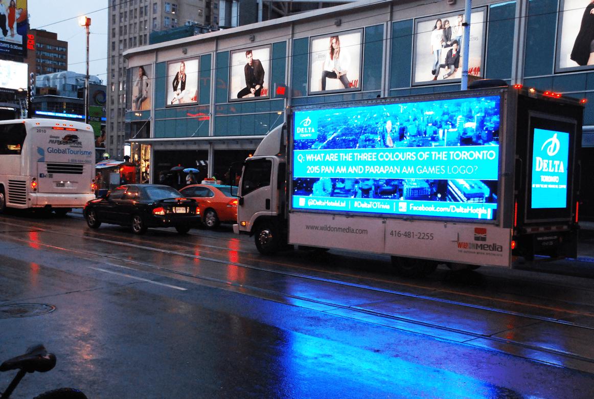 Digital Ad Truck: Delta Hotels