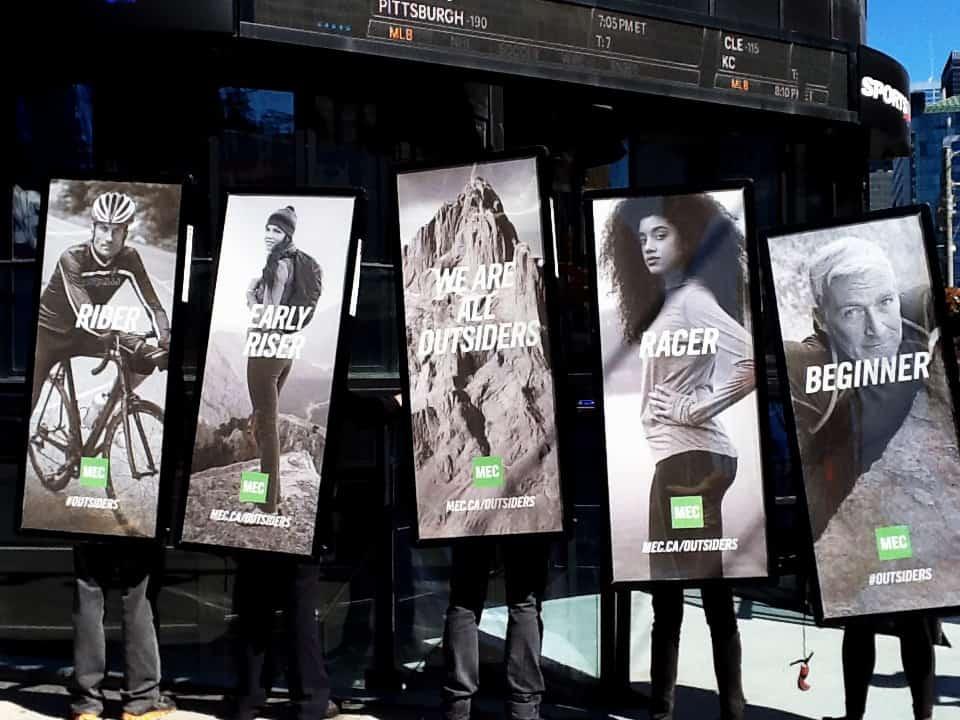 Walking Billboards: MEC