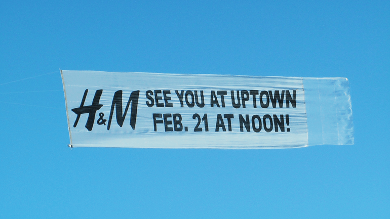 Aerial Advertising: H&M