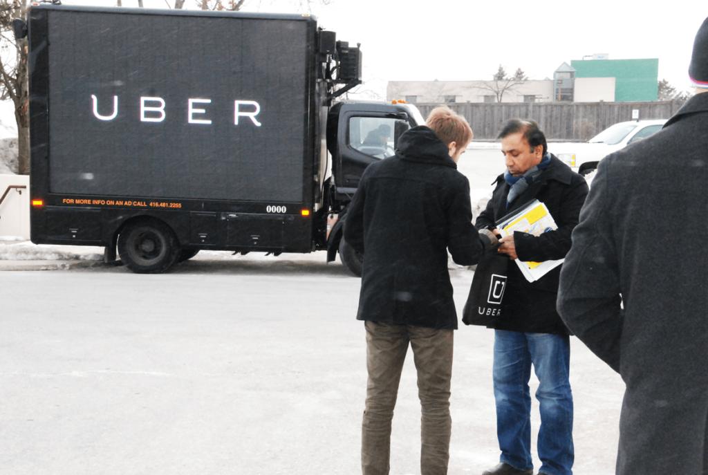 Digital Ad Truck Uber
