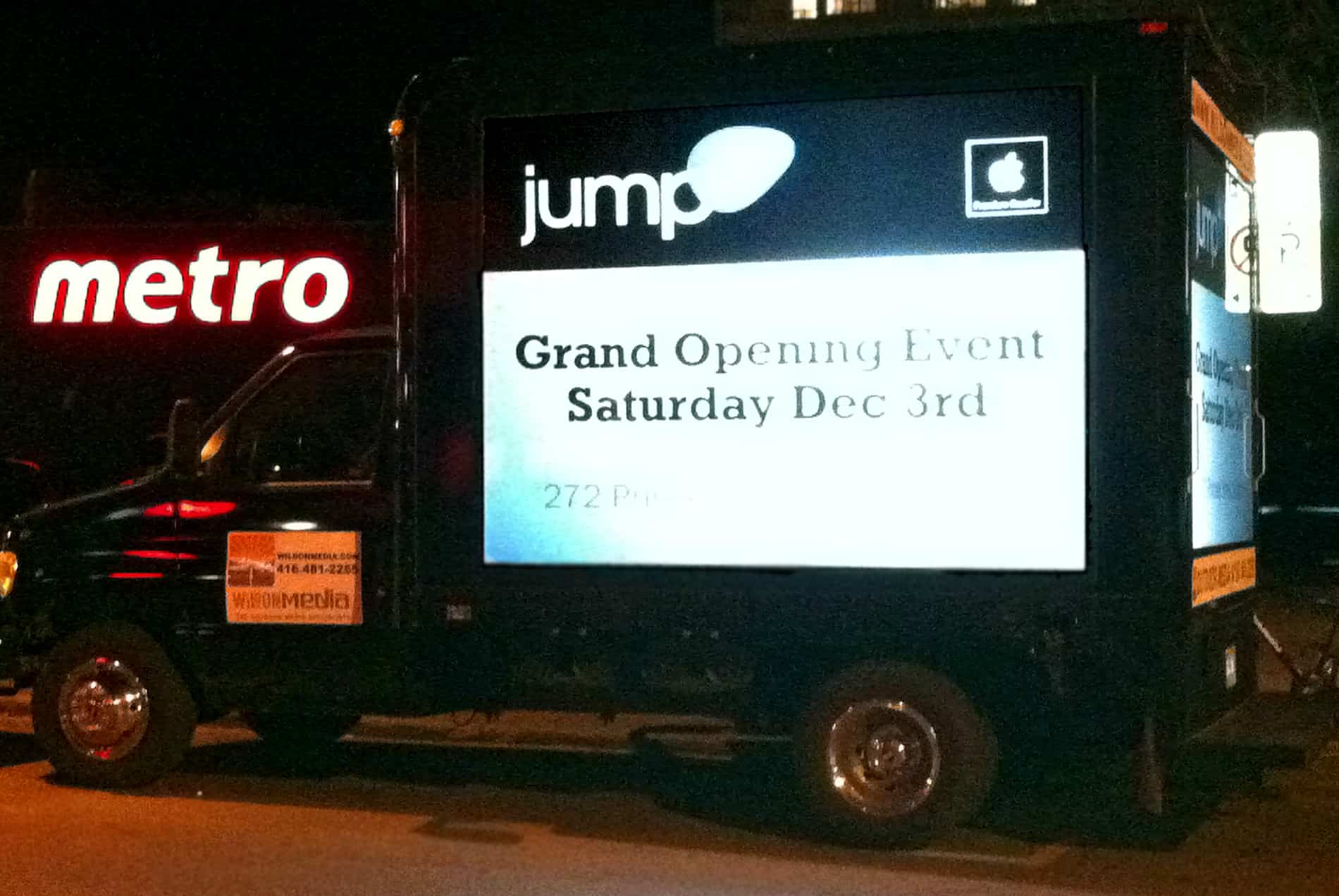 Projection Video Truck: Jump+