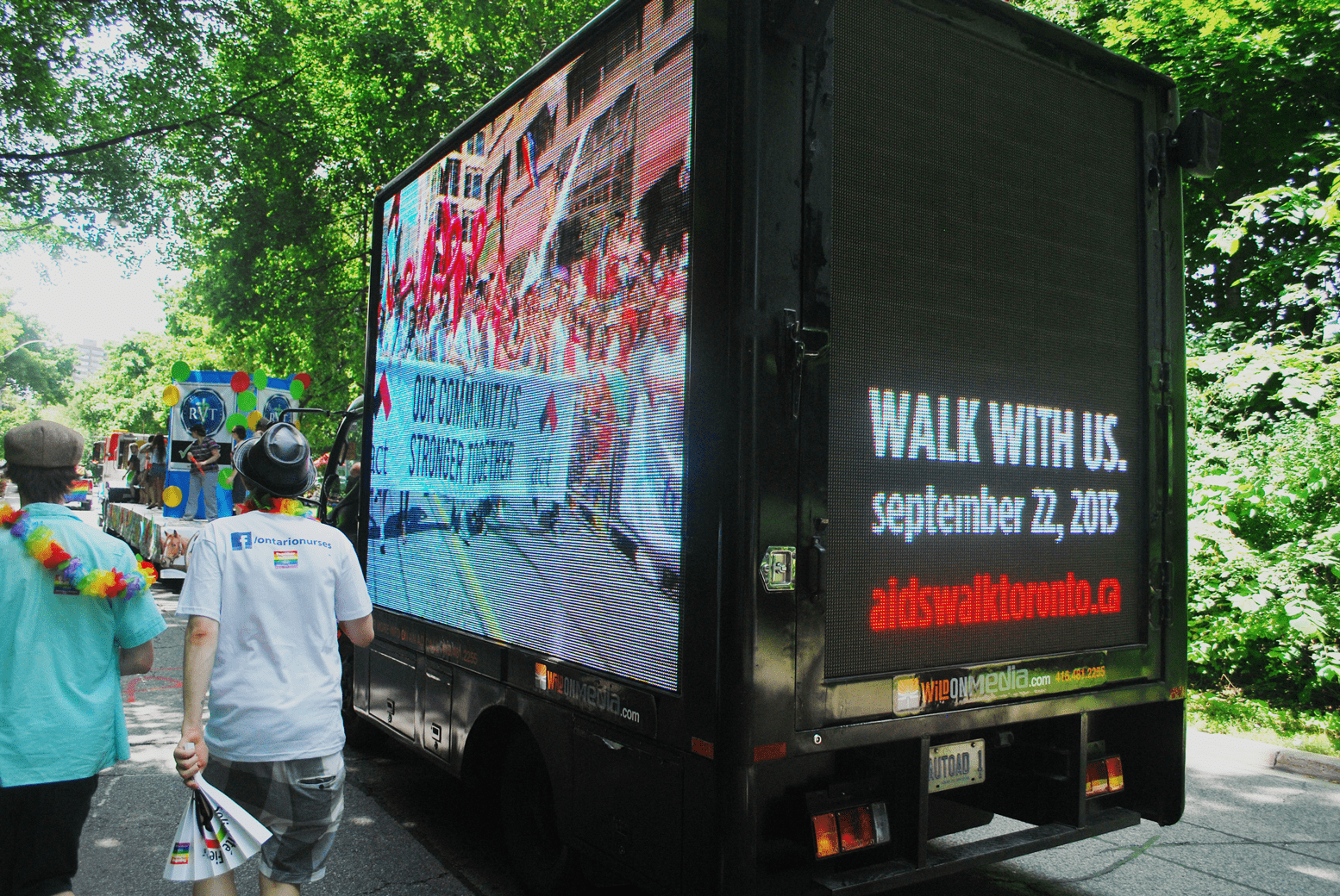 Aids Committee Toronto - Digital Ad Truck