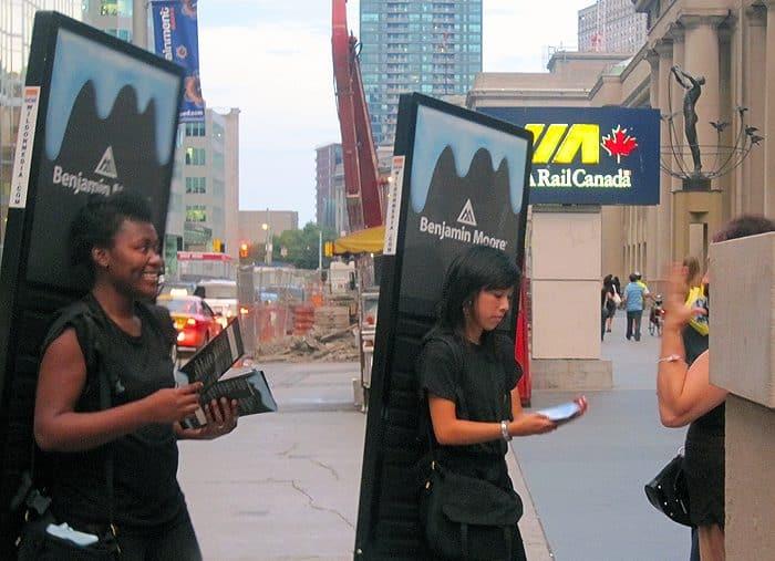 LED walking billboard promotions