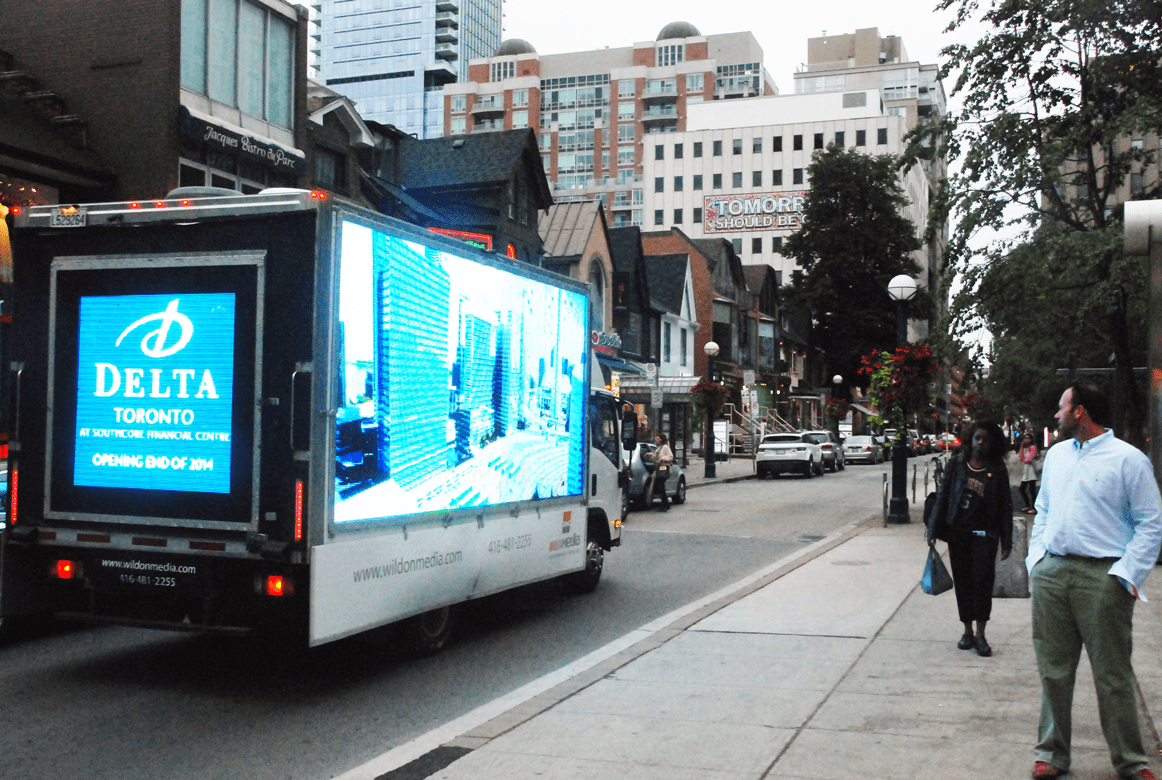 Delta Hotels - Digital Ad Truck
