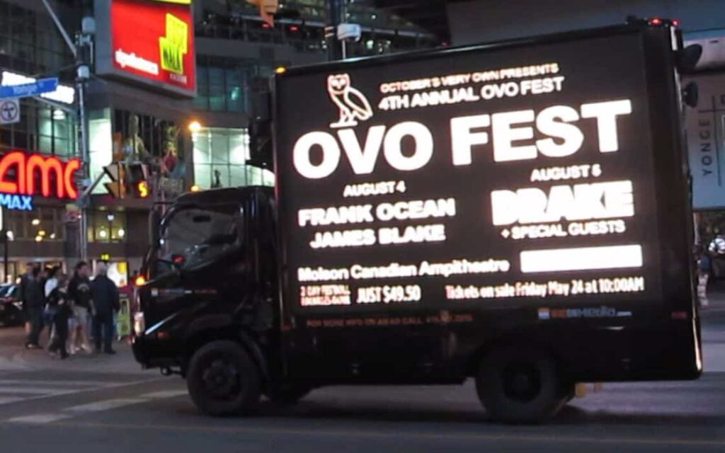 Digital Ad Truck: Live Nation – OVO Fest