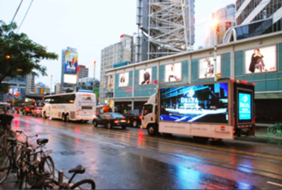 Digital Ad Truck for Delta Hotels