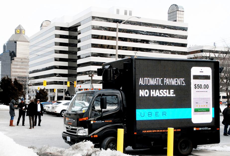 Digital Truck Ads for Uber
