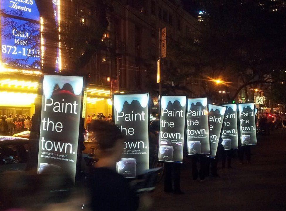 Walking Billboards: Benjamin Moore Paints