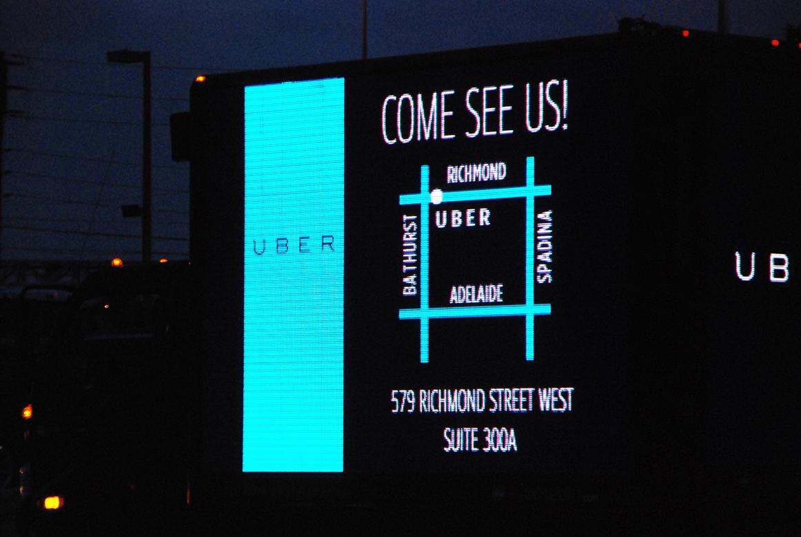 Uber Ads Medium Digital Truck