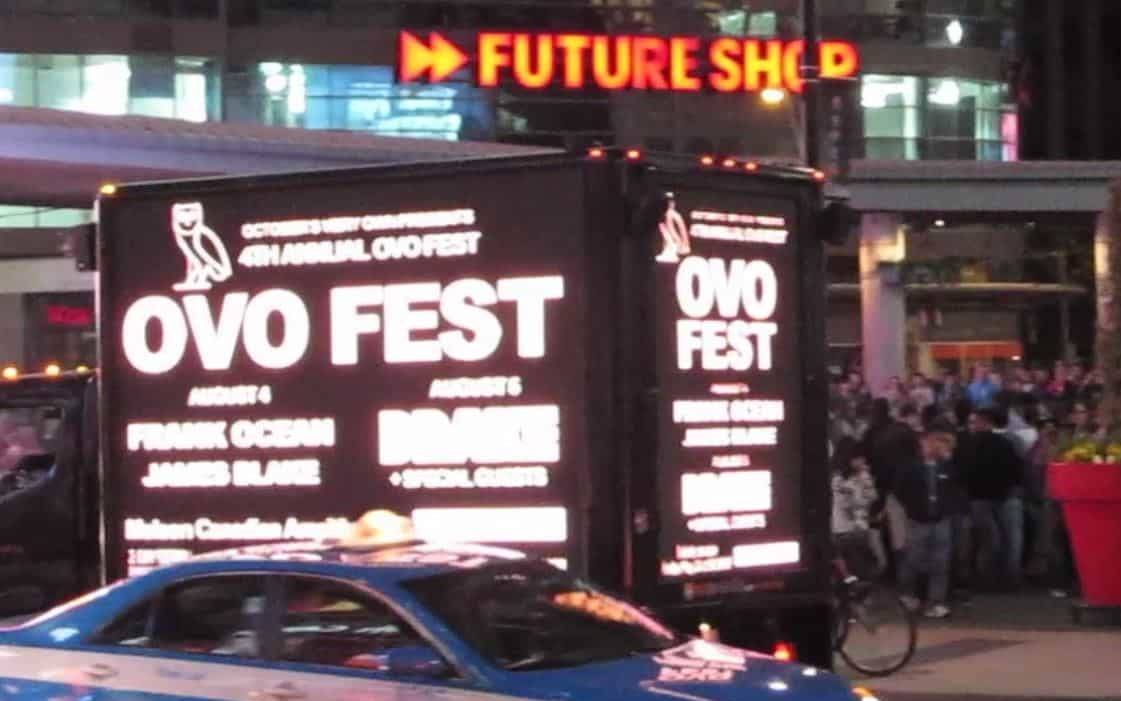 Video Truck Ads for OVO Fest
