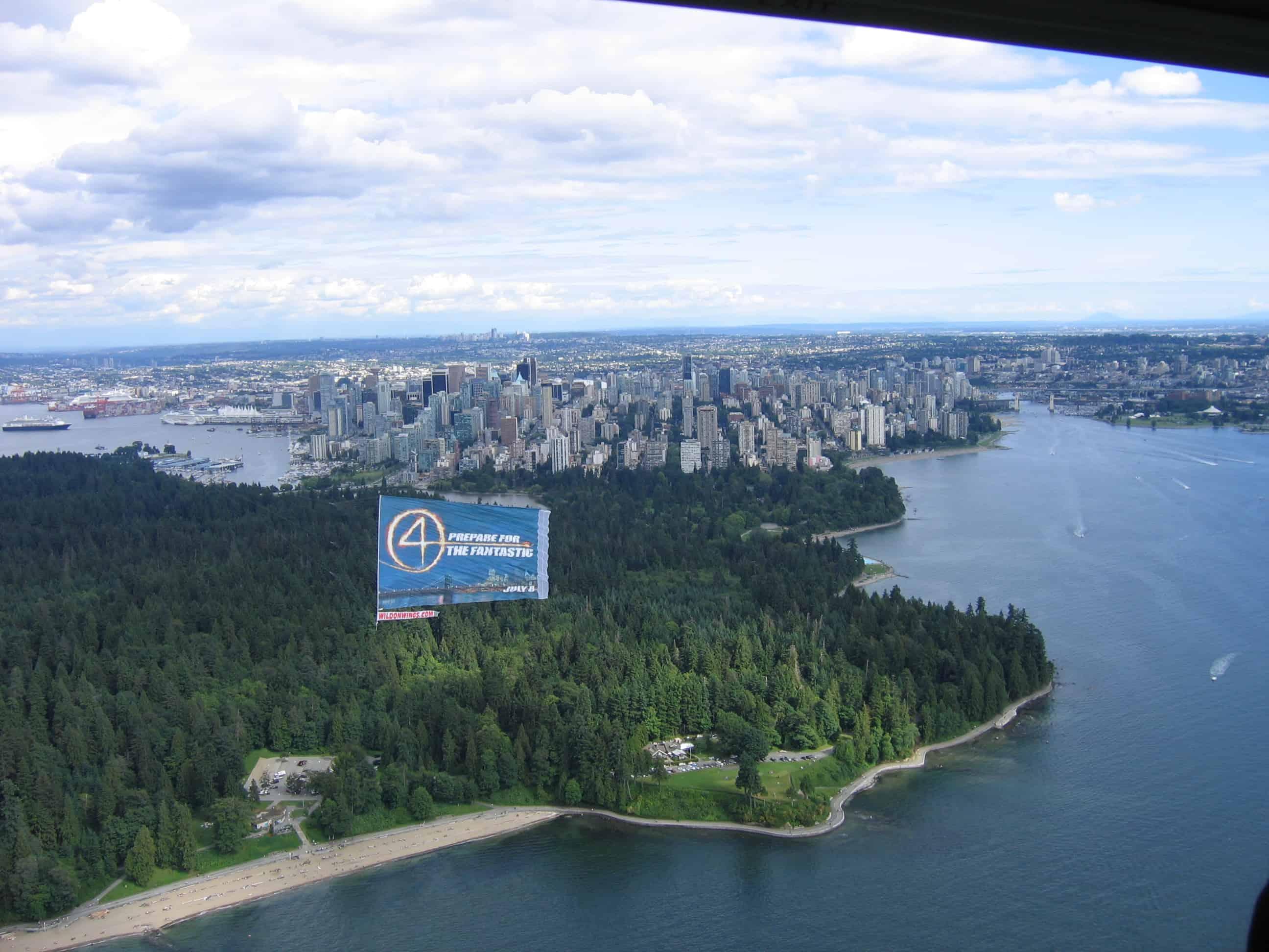 Aerial Advertising 20th Century Fox – Fantastic Four