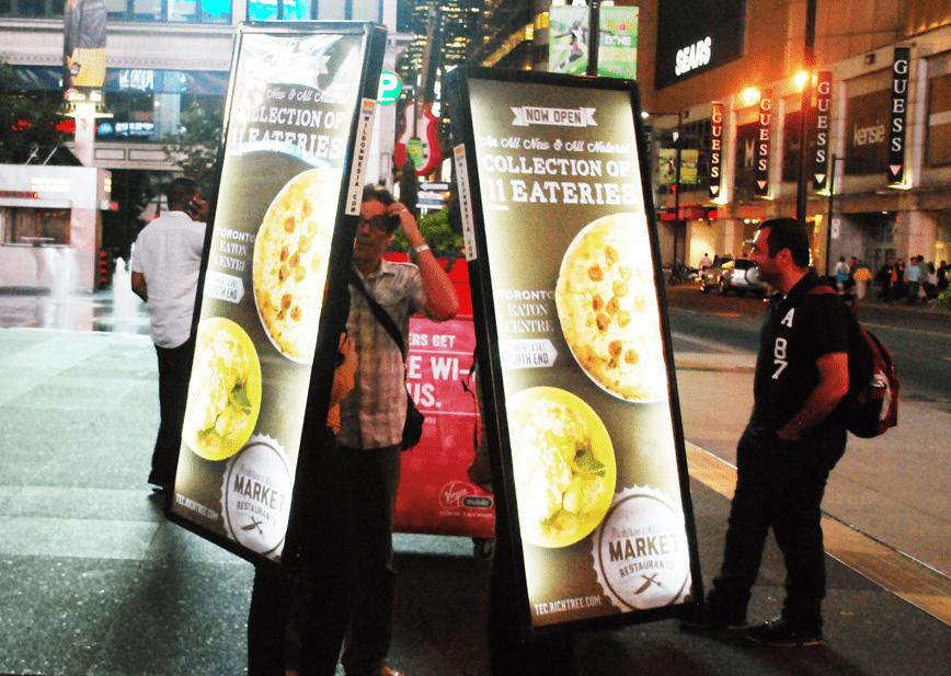 Wild on media Walking Billboard Richtree