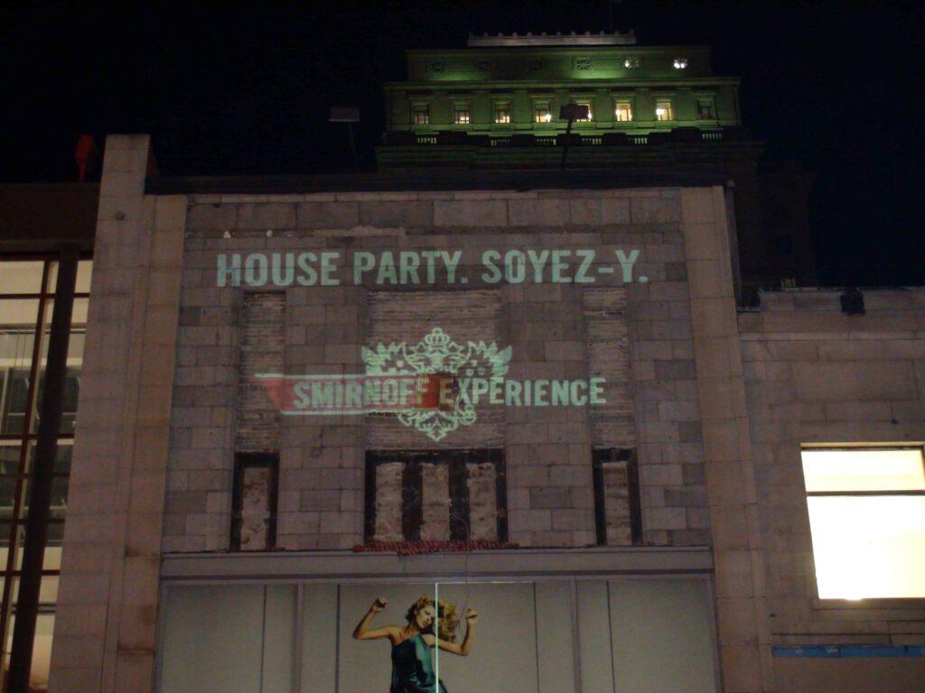 Wall Projections: Diageo – Smirnoff Vodka
