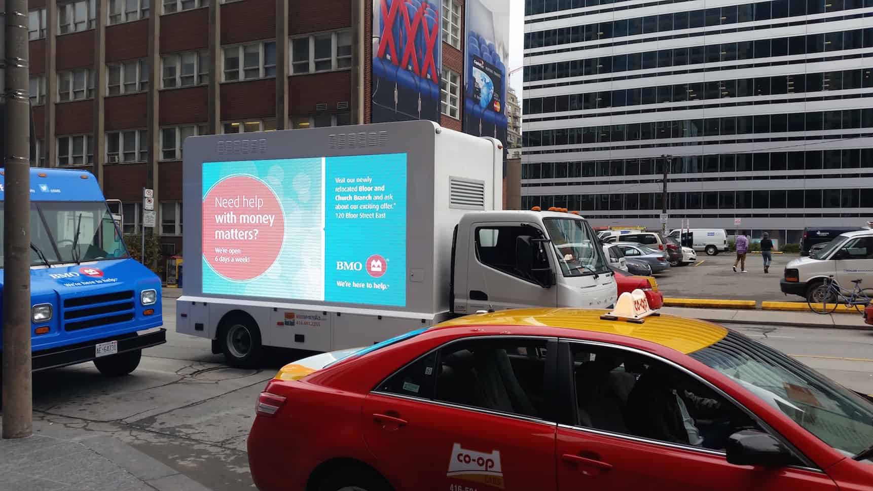 Digital Ad Truck, Food Sampling Truck & Walking Billboards: BMO