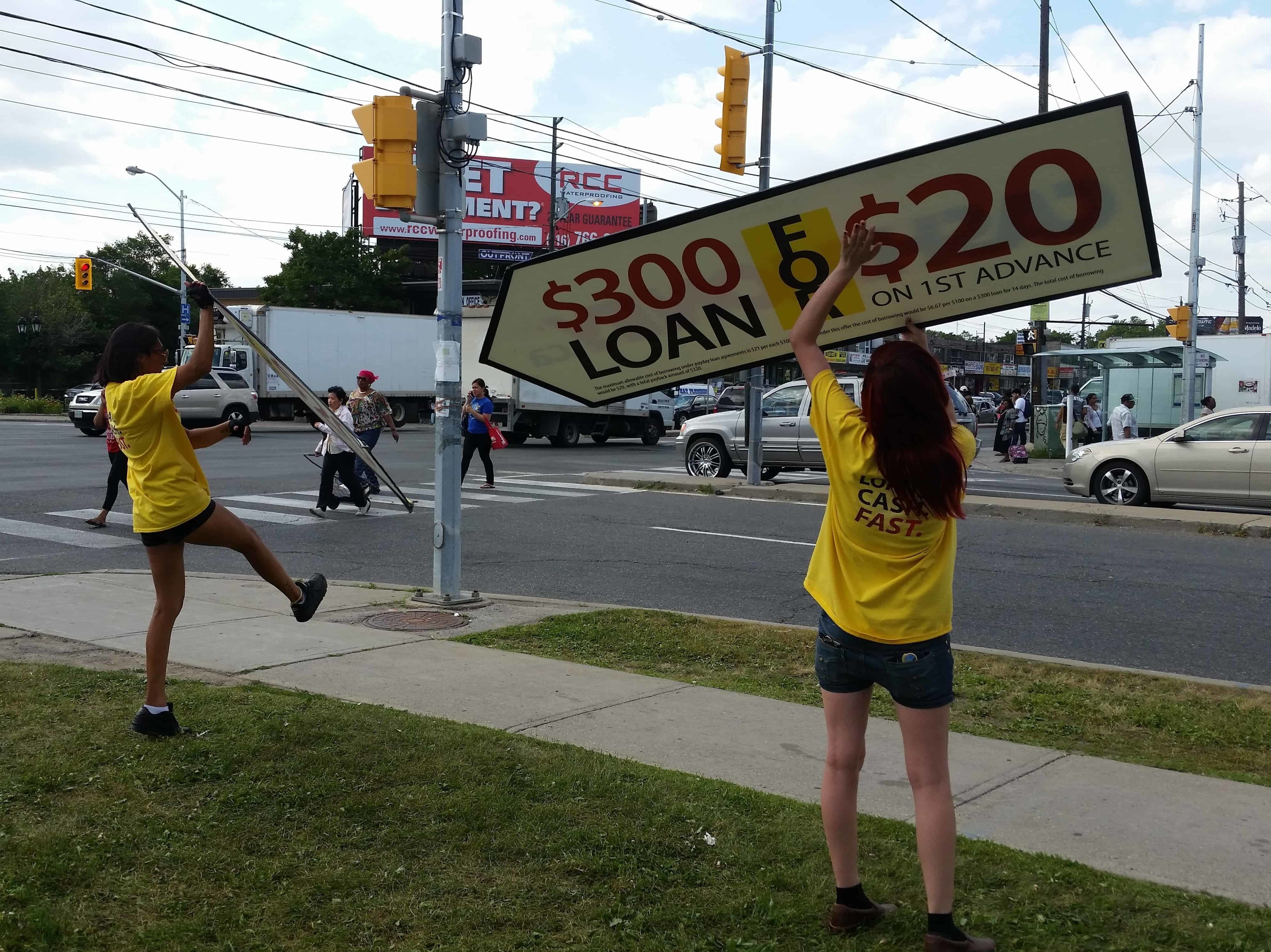 Sign Spinners Cash Money