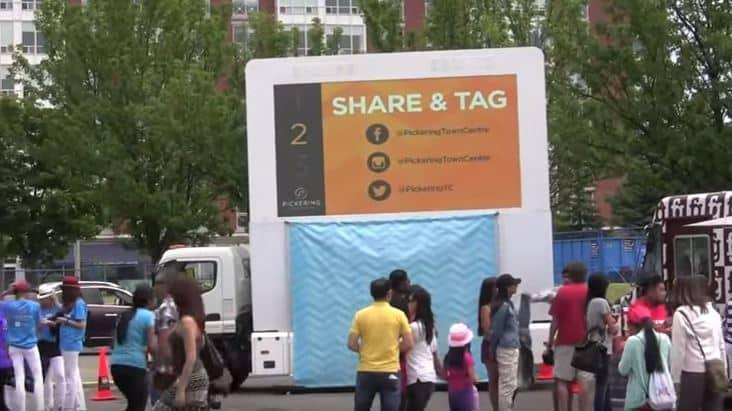 Digital Ad Truck & Brand Ambassadors: Pickering Town Center