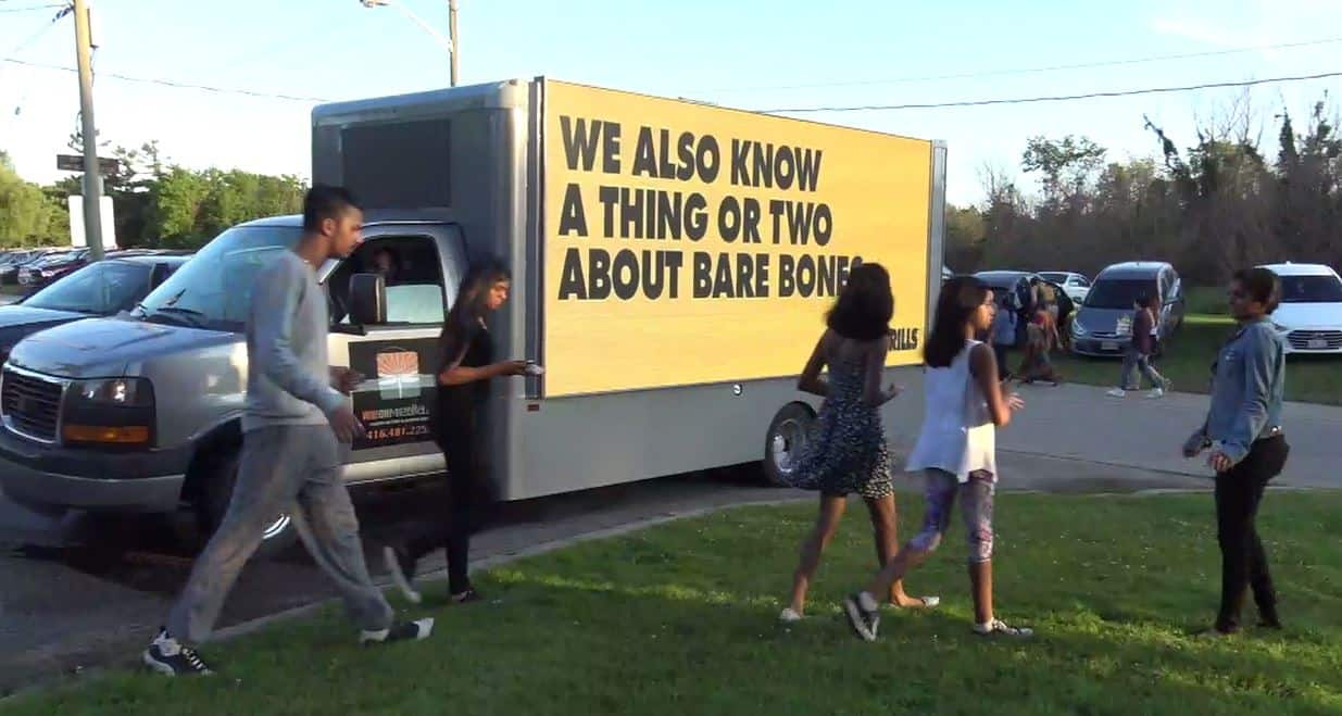 Moving promo truck