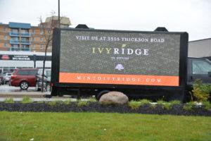 Billboard for truck ads