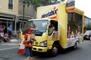 Glass Display ad Truck, Cobourg Parade, July 2013 6