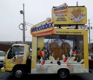 Display ad Trucks Inspection Day, Wetabix