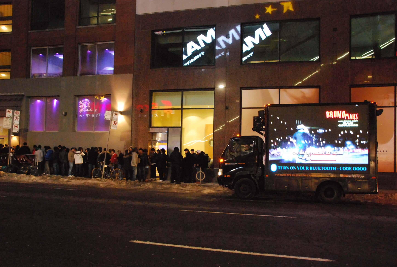 LED Video Truck, Live Nation, Bruno Mars Canada
