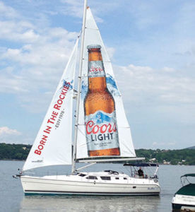 Sailboat ad for Coors Light