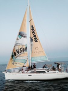 Sailboat ad for Monsoon beverage