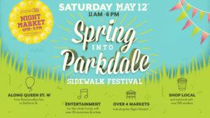 Spring into Parkdale Sidewalk Festival Logo