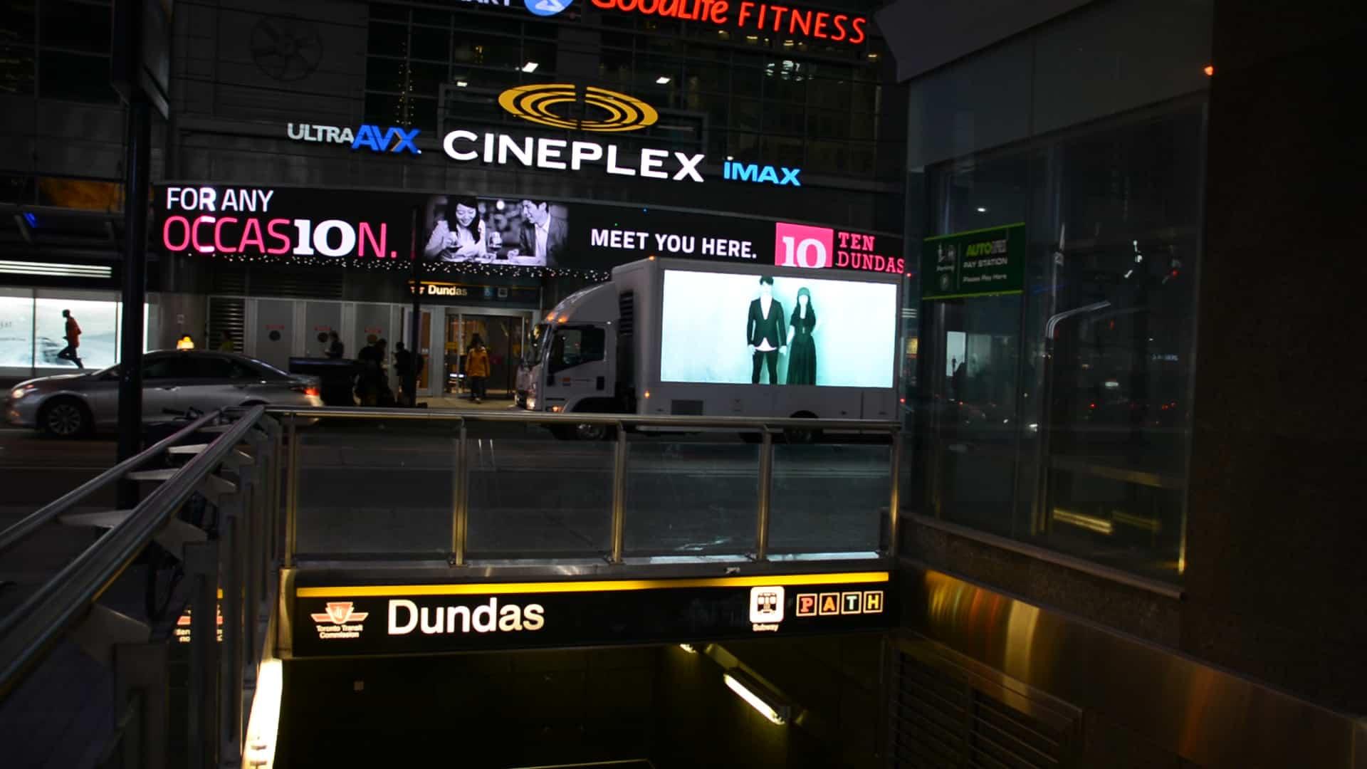 Digital ad truck in Toronto