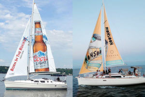 Sailboat ad for Monsoon beverage and Coors Light CA TORONTO