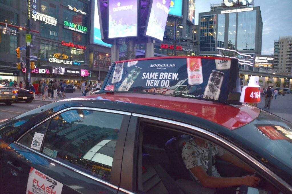 Moosehead Taxi Top advertising Canada