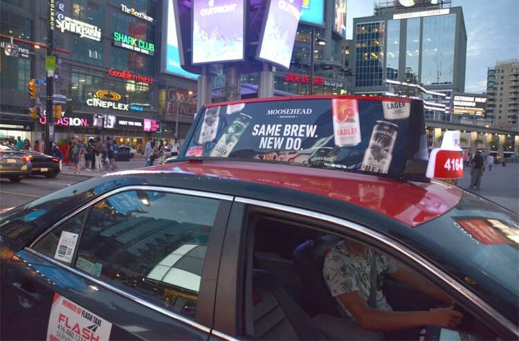 traditional taxi tops in Toronto - Static Taxi Top