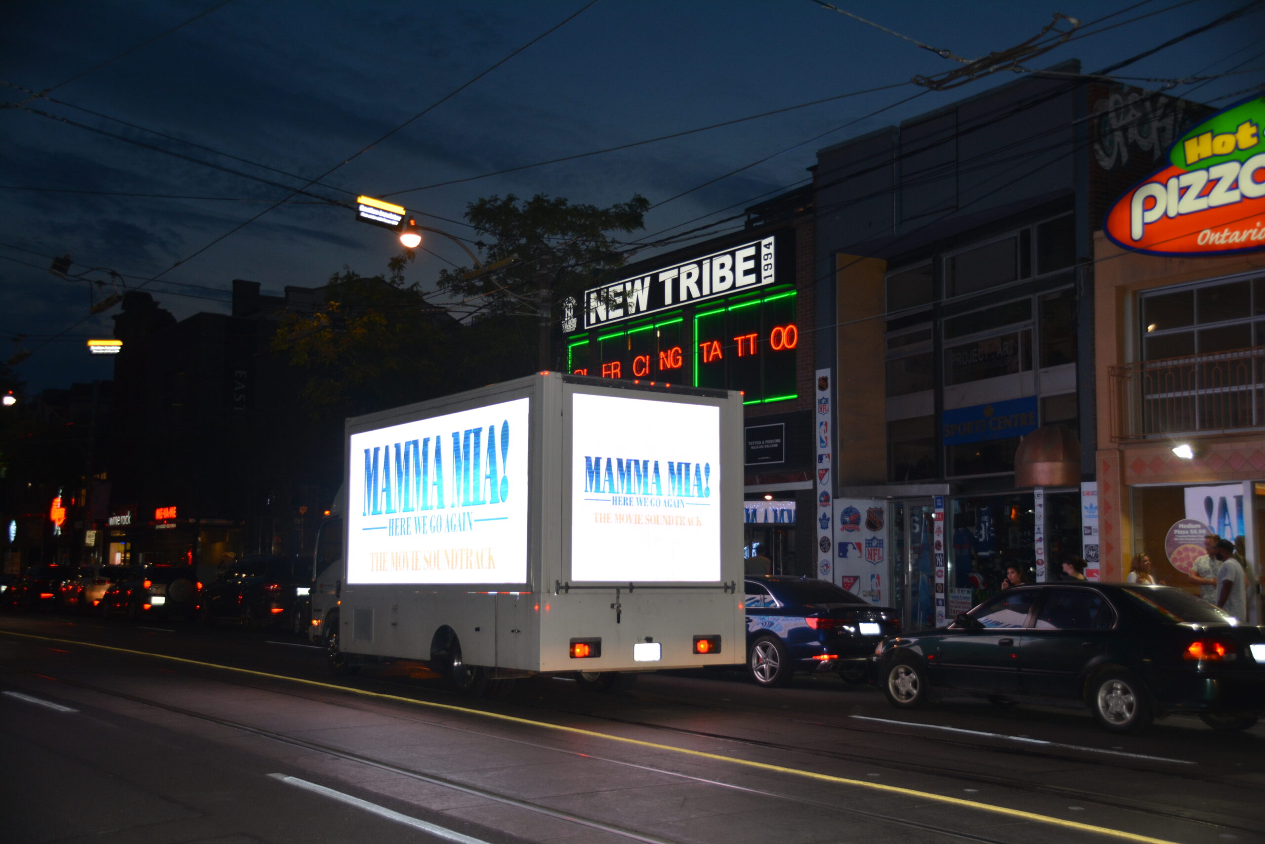 Digital Ad Truck: Mamma Mia Soundtrack