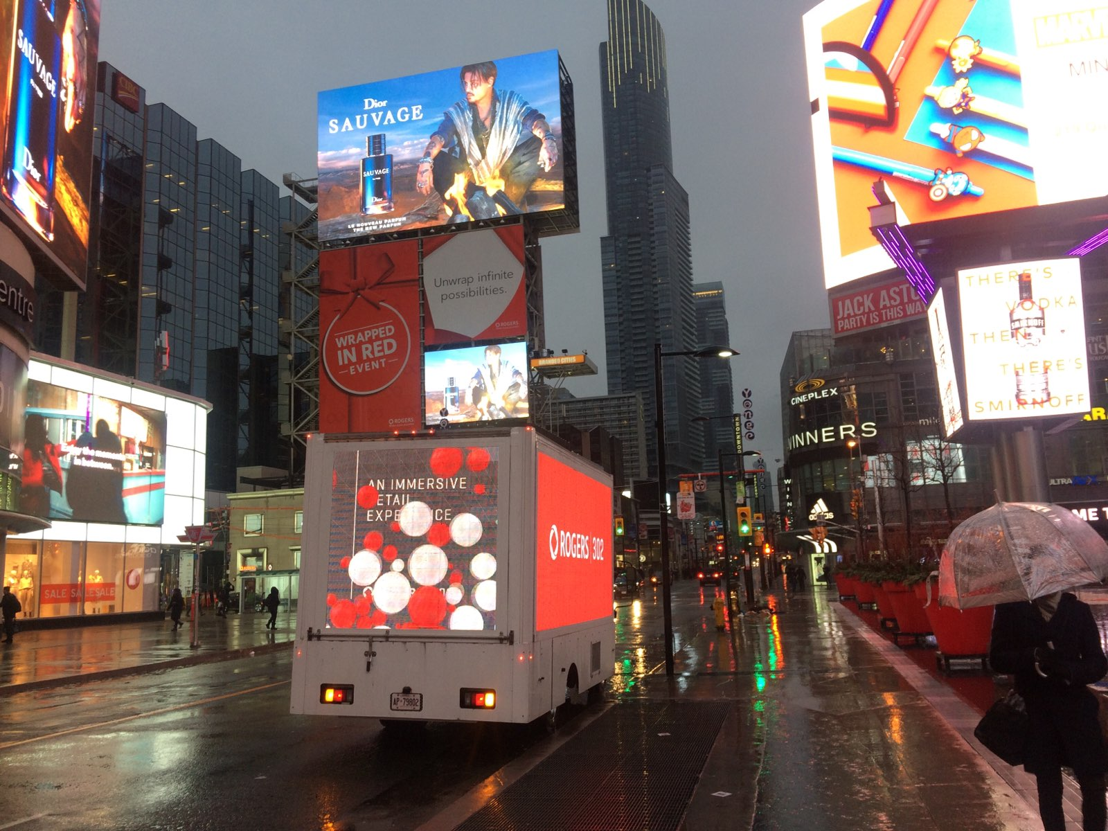 Digital Truck Rogers Digital truck advertisement for Rogers