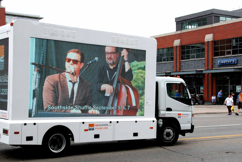 billboard advertising on moving trucks for promotion