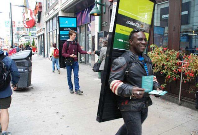 Walking Billboards Street Promotion In Canada