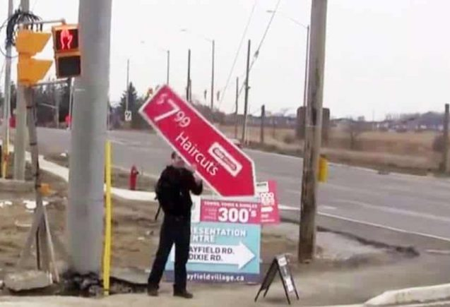Human Billboard & Directional Signs