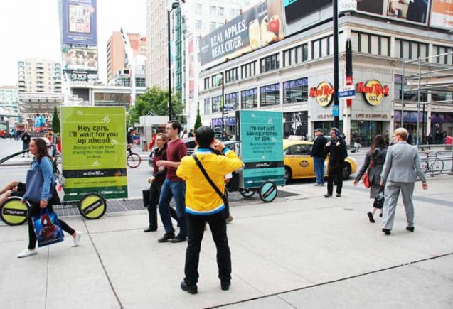 Eco-Friendly Bicycle Billboards