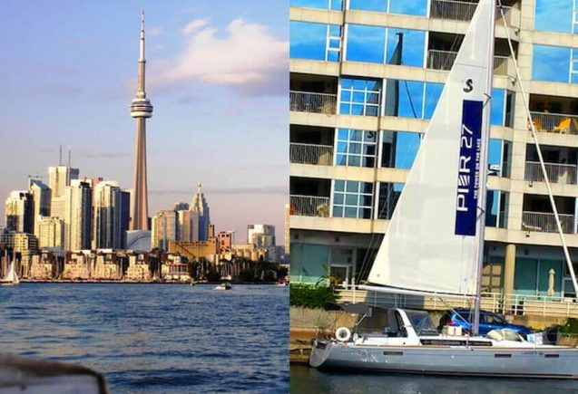 The Sailboat ad for Pier CANADA TORONTO